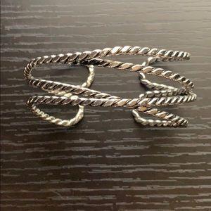 Banana Republic Silver Cuff Bracelet